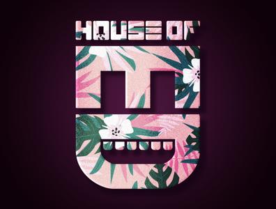 House of Ed Final Logo Floral design photoshop adobe illustrator branding logo
