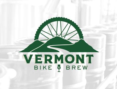 Vermont Bike & Brew Logo design logo branding adobe illustrator