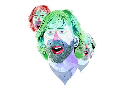 Trey Face portrait digital painting photoshop adobe illustrator