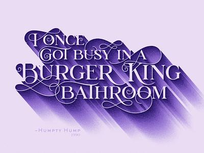 Do the Humpty Hump digital underground illustrator typography