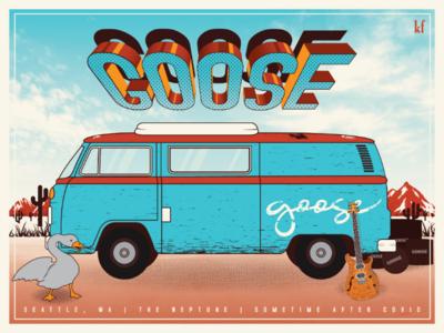 Gig Poster for Goose concert poster gig poster poster music vector illustrator