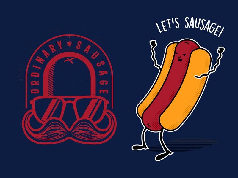 T-Shirt Designs for Ordinary Sausage clothing design logo tshirtdesign tshirt digital art vector adobe illustrator