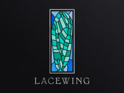 Lacewing Winery Logo graphic design labels wine vector logo design logo