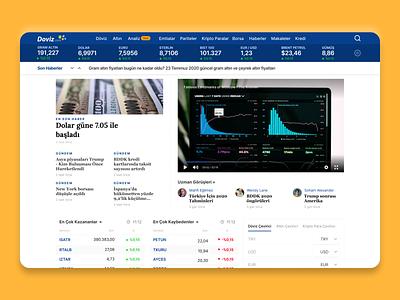 Doviz.com Redesigned New Home Page finance figma design ui ux
