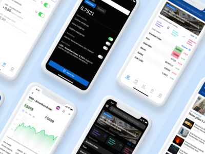 Doviz – Mobile Screens design fintech ios figma mobile ui ux finance app finance cards