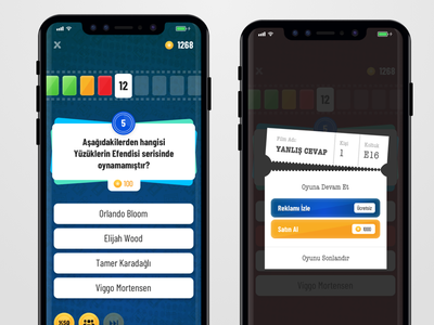 Mobile Movie Quiz Game iphone x ios trivia quiz mobile ux game