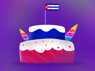 Unicorn Cake procreate cake unicorn illustration ipad