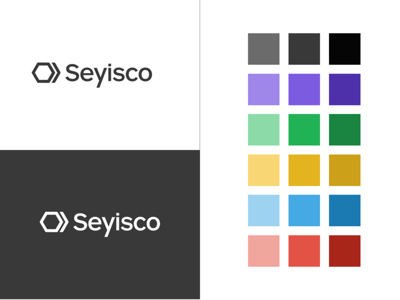 Seyisco Rebranding colors design icon typography vector startup hexagon logo branding