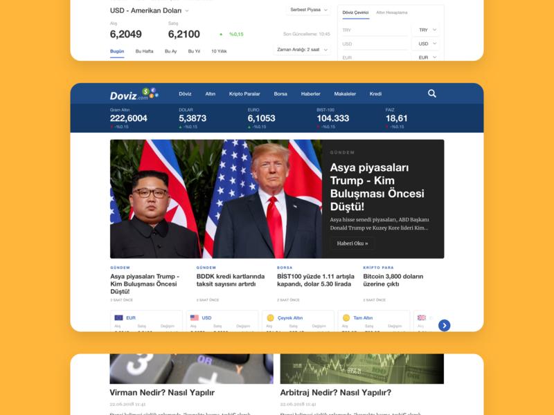 Doviz - Web Product Design uiux ui financial market fintech finance