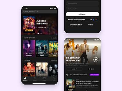 Sinemalar - Mobile Product Design entertainment movie ios design ux ui