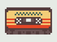 Awesome Mix Vol. 1 cassette pixel art