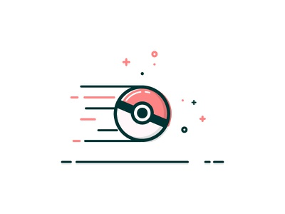 Pokeball in motion line illustrated mbe pokeball pokemon
