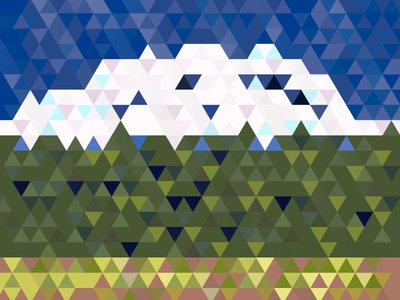 Mount Rainier with a bunch of triangles vector abstract abe schmidt washington seattle rainer rainier mount rainier mt rainier