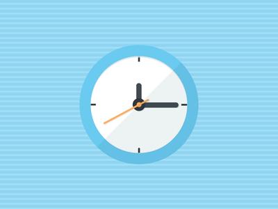 It's a Blue Clock minimal clock clock illustration clock icon abe seattle abe design seattle abe schmidt blue clocks clock