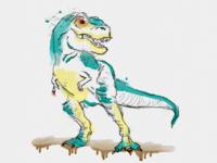 Watercolor T. Rex