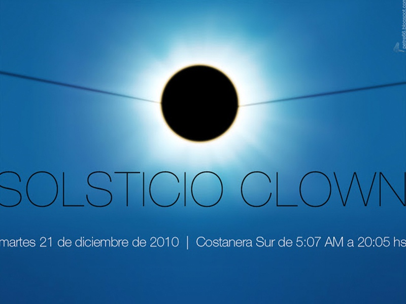 Clown Solstice digital art graphic  design