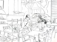 At Café Martínez