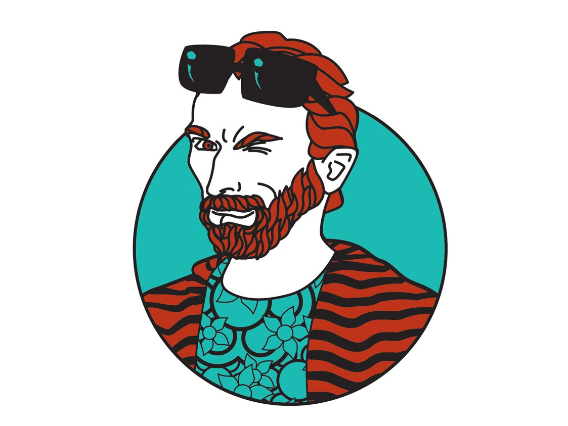 Vicenzo portrait art vectorial illustration van gogh caricature digital art digital color art illustration drawing