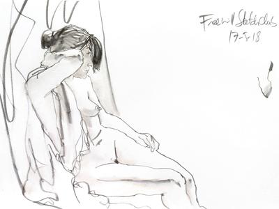 Gaby at Freewill Sketchclub