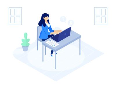 Login Details free web office illustrator illustration icon header color character blue