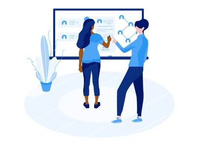 Your Account Is A Little Empty plant board teacher blue web page room illustrator vector illustration