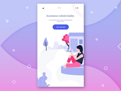 Ecommerce Illustration characters color modern web ui kit iphone illustrations icon graphic error android