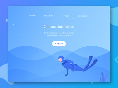 Connection Failed android error graphic icon illustrations iphone kit ui web modern color characters