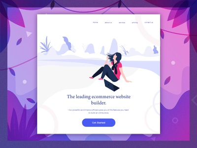 Ecommerce Illustration ecommerce natural error graphic icon illustrations kit ui web modern color characters