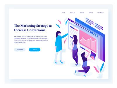 Illustrations Marketing courses-online marketing design web element characters illustrator color flat illustrations