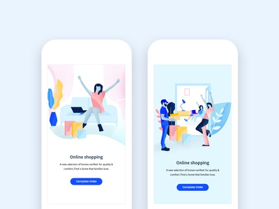 Illustration Shopping - Usage Examples drawing mobile design illustration ui modern illustrations characters web