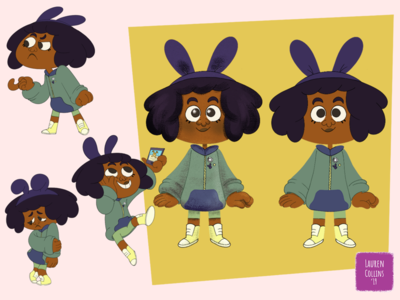 Puka Character Design Variation #2 digital art school student kid art colorful visual development character sheet illustration design feisty cute children character character design 2d art