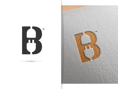 Letter B + Plug dribbble invite dribbble conceptlogo brand brand logo brand mark branding design flat logo flat design logotype logo a day logo branding logo brand logobrand logo mark logo plug b letterb letter b
