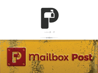 Mailbox + Letter P | Mailbox Post Logo