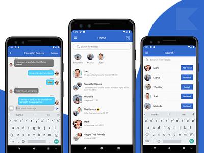 Mobile Chat App Template whatsapp snapchat messenger app messenger message app photo sharing chatting app socialmedia social network social media social app social group chat chatting chat app messaging app messaging chat design