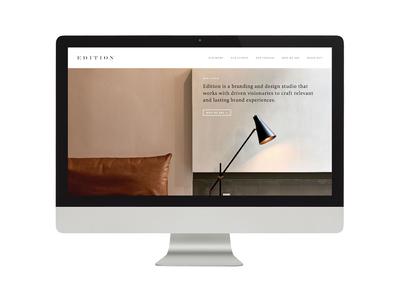 Edition / Design Studio / Website Homepage