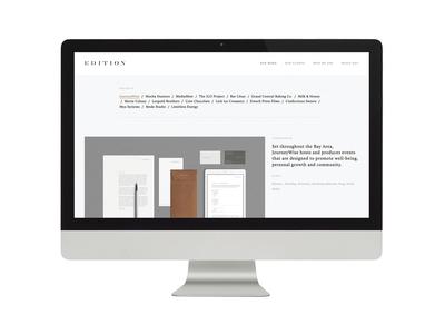 Edition / Design Studio / Website Project Page