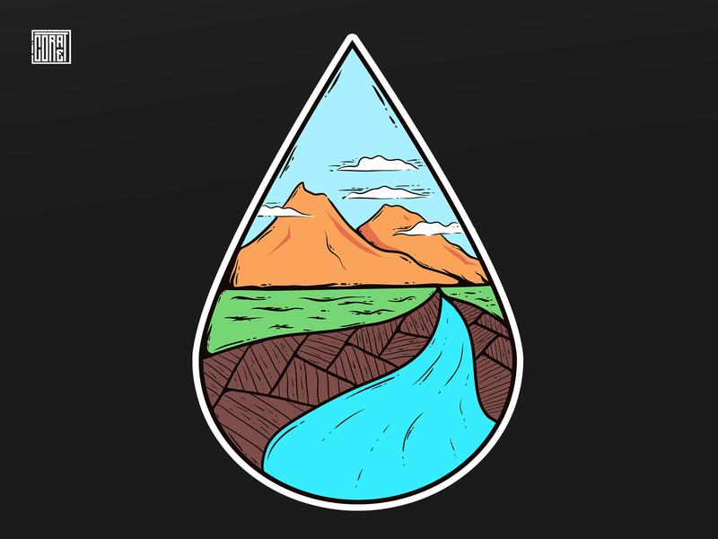 Illustration 12 badges hiking mountain logo mountain artwork sketch coretan creative background tshirt design vector illustrations illustration art drawing design adobe illustrator