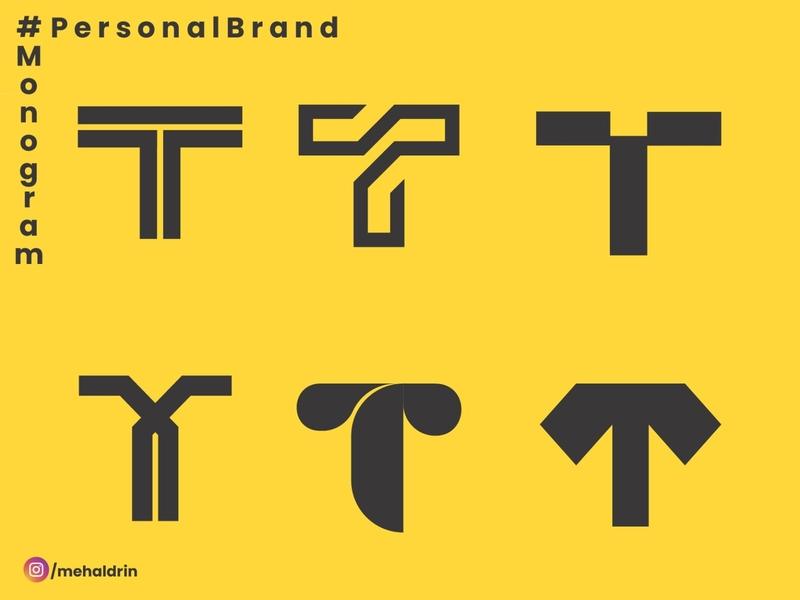 T typography logo branding personal logo personal brand personal blog illustration branding design branding concept design brand
