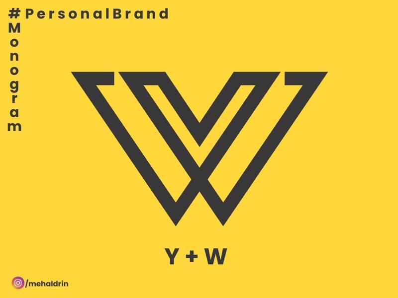 Y +   W dribble illustration branding personal logo ui personal brand personal blog branding design branding concept design brand