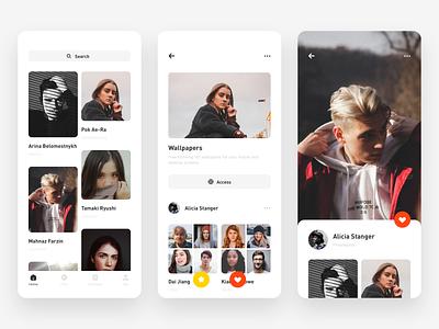 Picture Recommendation design app、ui ui