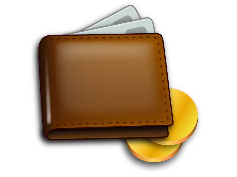 Wallet wallet icon illustration credit card coin