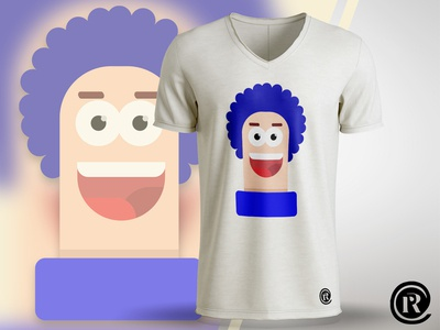 T-Shirt flat design character frizzy