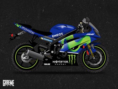Bossdog Movistar Yamaha Bike Wrap print monster sport motor graphic race yamaha vehicle wrap