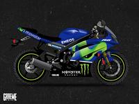Bossdog Movistar Yamaha Bike Wrap