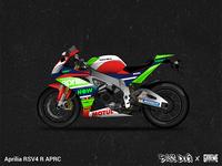 Aprilia RSV4 Motorcycle Wrap and Render