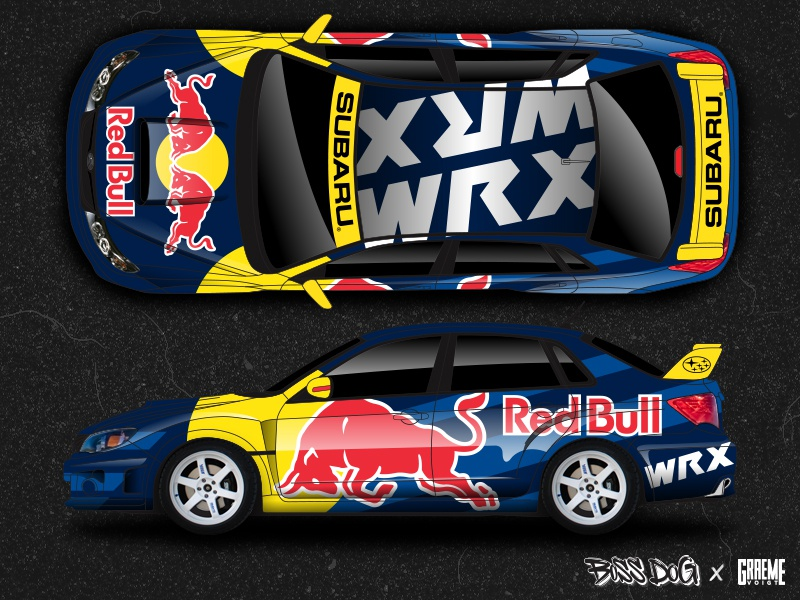 Subaru WRX RedBull Vehicle Wrap