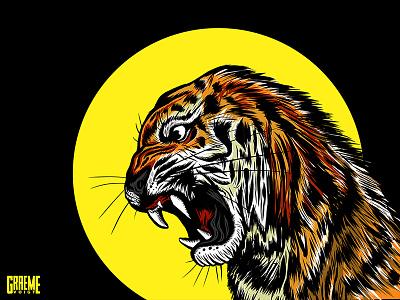 Tiger wrap vehicle branding design graphic sketch animal lion japan vector tiger illustration