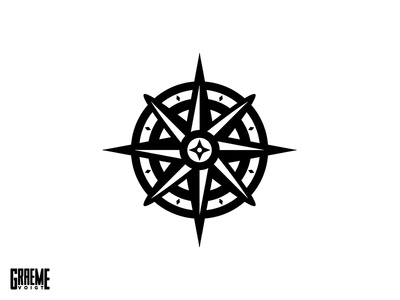 Compass apparel mark pattern navigation adobe vector logo barber compass razor