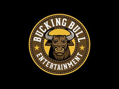 Bucking Bull Entertainment Logo cow entertainment country western animal bucking vector branding graphic design logo bull