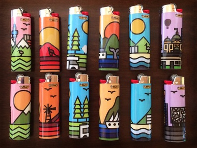 Bic Australia & New Zealand Lighters Series town city whale auckland product melbourne sydney zealand new australia lighter bic